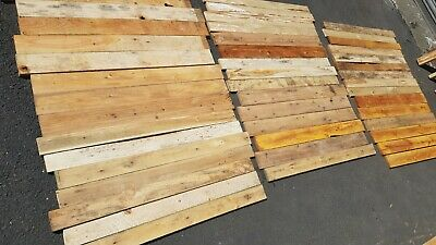 £42.99 • Buy RECLAIMED PALLET WOOD  - Cladding / Bar / Recycled / DIY / Planks (x30 Boards)