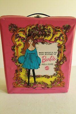$ CDN17.64 • Buy 1968 Vintage BARBIE DOLL Vinyl Carry Case With Handle.