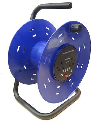 £16.99 • Buy 2-Gang Plastic Empty Cable Reel Drum - Electric Extension