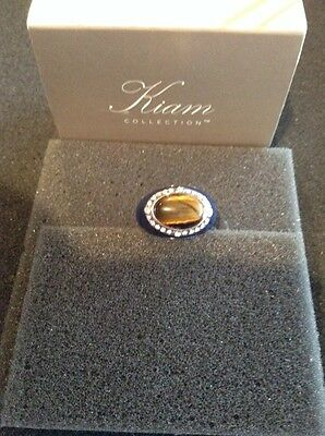 $ CDN29.82 • Buy Lia Sophia Kiam Collection Keynote Ring Size 8 NEW In Box Tiger's Eye