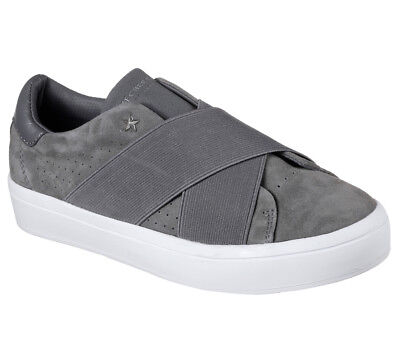 NEW SKECHERS Women Sneakers Slipper Slip On Memory Foam Comfort HI-LITE Grey • 28.99£