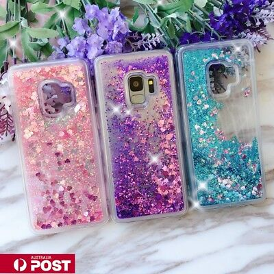 AU10.99 • Buy For Samsung S20 S10 S9 S8 Plus Liquid Sparkle Glitter Dynamic Bling Case Cover