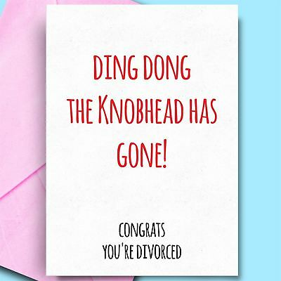 £2.95 • Buy Divorce Cards For Him BFF Brother Dad Bestfriend Funny Divorce Cards Funny Cards