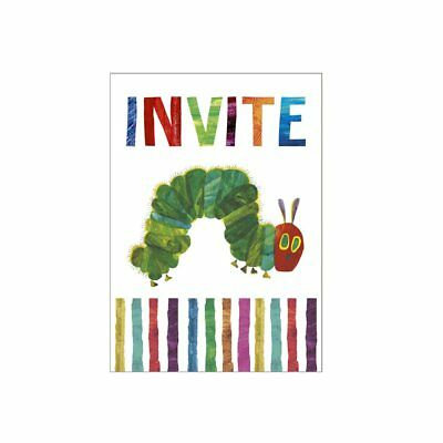 VERY HUNGRY CATERPILLAR Invites Butterfly Decoration Birthday Garden Party Kids • 3.95£