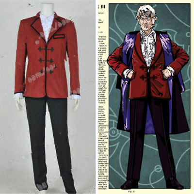 Hot Doctor Cosplay Who The 3rd Third Dr Jon Pertwee Cosplay Costume Custom NN.95 • 49£