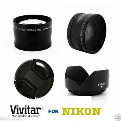 AU160.53 • Buy 4k WIDE ANGLE LENS + MACRO + HD ZOOM LENS +LENS HOOD FOR NIKON COOLPIX P1000