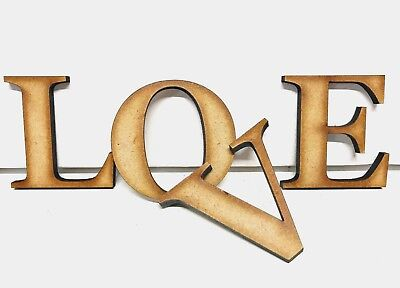 £6.45 • Buy EXTRA LARGE Wooden Letters 20cm-40cm 4mm Thick MDF Wall Hanging Craft Home Signs