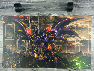 AU32.37 • Buy YuGiOh Red-Eyes Darkness Dragon Master Rule 4 Zones Custom TCG Playmat Free Tube