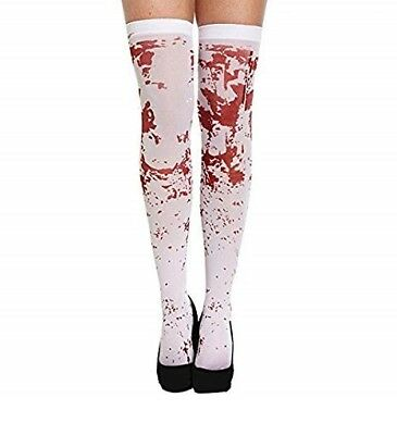 Halloween White Blood Stained Bloody Stockings Treat Or Treat Dressup  • 2.50£