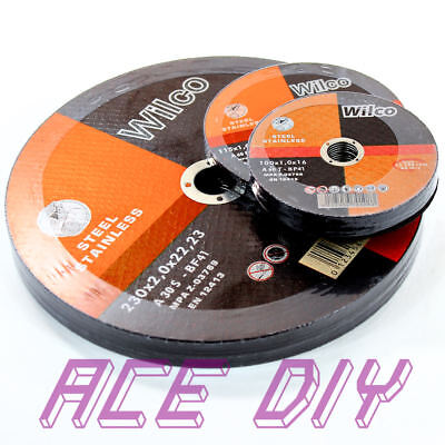 £5.29 • Buy Metal Cutting Discs   Angle Grinder Disc Thin Stainless Steel 100mm 115mm 230mm