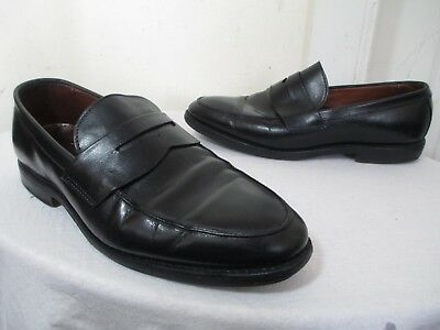 d0e01e49f07 Brooks Brothers Mens Blk Leather Goodyear Welted Sole Penny Loafers Uk 8 E  Us 8½ •