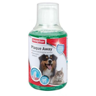 Beaphar PLAQUE AWAY Remover Dog Cat Mouthwash Dental Rinse Oral Care Aid 250ml • 9£