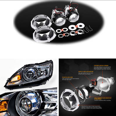 $ CDN50.50 • Buy For H4 H7 Car SUV Headlight 2Pcs Bi Xenon HID Projector Lens With Silver Shrouds