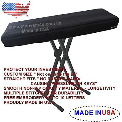 $29.87 • Buy M-Audio Hammer 88 KEYBOARD CUSTOM FIT DUST COVER + EMBROIDERY ! USA