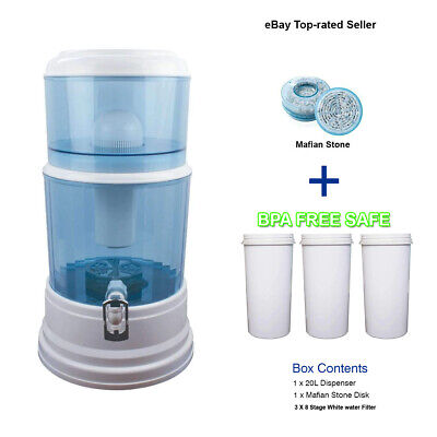 AU118 • Buy Aimex Water Purifier 8 Stage Water Filter Carbon Mineral Bench Top Dispenser 20L