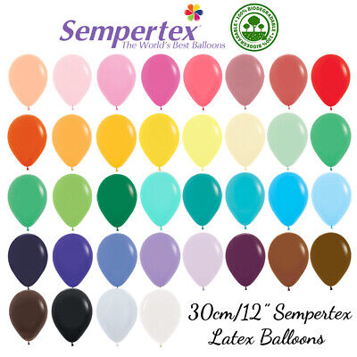 AU3.18 • Buy  30cm/12  Latex Balloons Pack Of 10 Sempertex Birthday Party Wedding 40+ Colours