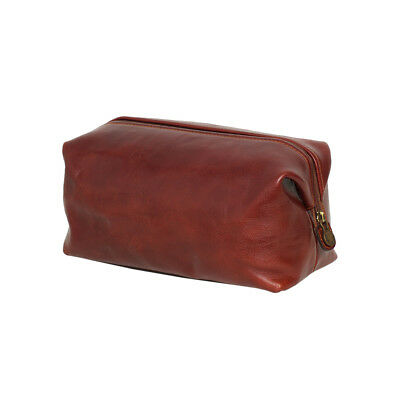AU129 • Buy NEW Large Genuine Leather Dopp Kit In Brown Men's By Republic Of Florence