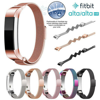 AU12.89 • Buy For Fitbit Alta / Alta HR Magnetic Milanese Stainless Steel Watch Band Strap