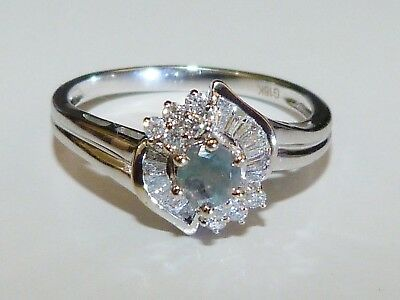 AU2400 • Buy GENUINE! RARE 0.63cts Alexandrite & Diamond Ring 18k W/Gold + Cert & Valuation!