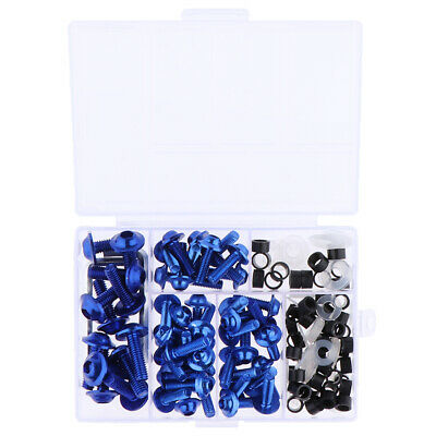 £7.32 • Buy 158x Blue Fairing Bolts Kit Fastener Clips Screws For Motorcycle Sportbike