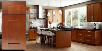 $5299.99 • Buy Fully Assembled All Wood 10X10 Modern Shaker Kitchen Cabinets In Elegant Nutmeg