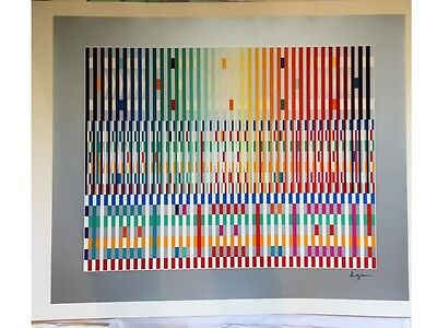$1125 • Buy Yaacov Agam's Ltd Edition S/n Serigraph 'the Blessing'