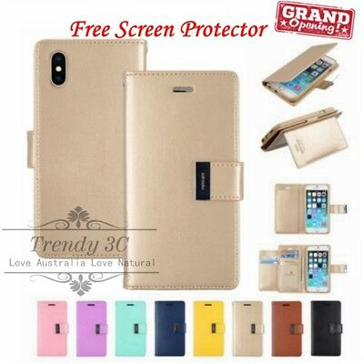 AU9.99 • Buy For IPhone 5/6/S/7/8/Plus/XSMAX/XR Wallet PU Leather Flip Extra Card Case Cover