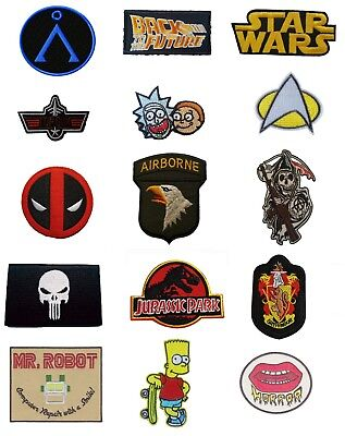 £2.59 • Buy TV Show Movie Film Cartoon Iron On Sew On Patches Badges Transfers Fancy Dress