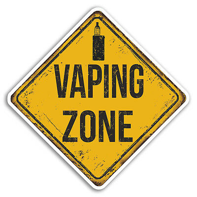 $ CDN3.40 • Buy 2 X 10cm Vaping Zone Warning Vinyl Stickers - Sticker Luggage Travel Gift #19252