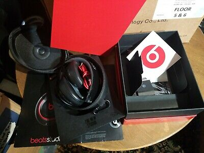 Beats By Dr. Dre Studio Wired OverEar Headphones Black/Red BO500 • 63.66£