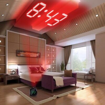 AU26.20 • Buy LED Clock With PROJECTOR Nightstand Desk Table Digital Projection Alarm Watch