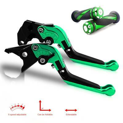 $40.41 • Buy For Kawasaki Pivot Brake Clutch Levers And Moto Grip For Ninja ZX6R 2005-2006 GN
