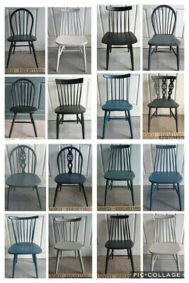 £65 • Buy Painted Refurbished Mix Modern Chairs & Ercol Kitchen Dining Chairs Solid Wood