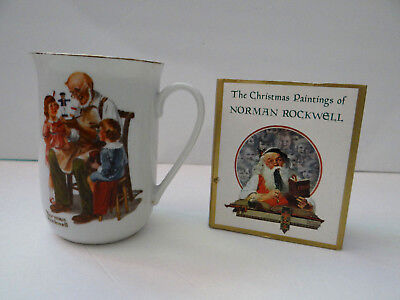 $ CDN19.83 • Buy Norman Rockwell Toymaker Collectible Coffee Mug Cup '82 Christmas Paintings Book