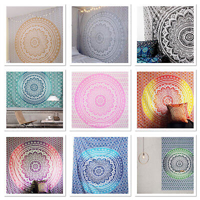 Large Indian Ombre Tapestry Wall Hanging Mandala Hippie Bedspread Throw Cover • 14.99£