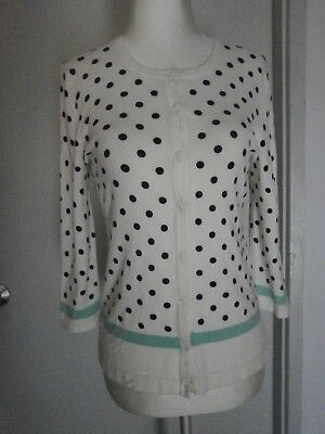 AU16 • Buy COLLECTION By JOHN LEWIS Size 10  Polkadot Cardigan