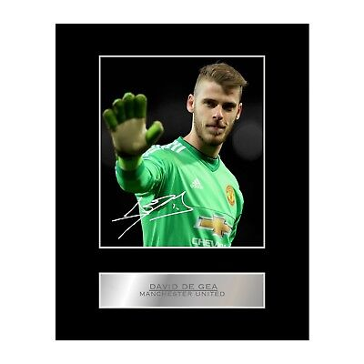 David De Gea Signed Mounted Photo Display Manchester United FC • 6.99£