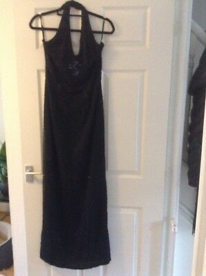 £17.99 • Buy After Six By Ronald Joyce Ladies Black Beaded Size 10