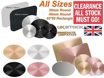 Metal Plate,Car Phone Holder,For IPhone 6 7 8x Magnetic Disc GPS Mount DIY CHEAP • 1.95£