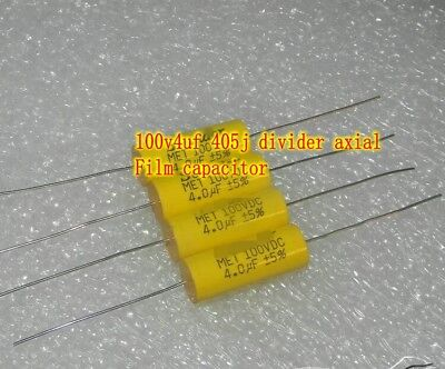 AU9.68 • Buy 100V4uf 405j Axial Film Capacitor Frequency Divider HiFi Capacitors