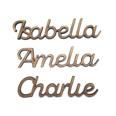 £1.20 • Buy Wooden Name Personalised 4mm Thick Wedding Names Wooden Letters Scrapbook Craft