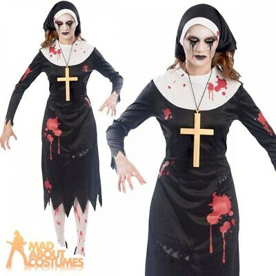 £11.99 • Buy Ladies Zombie Nun Costume Halloween Sister Scary Mary Womens Fancy Dress Outfit
