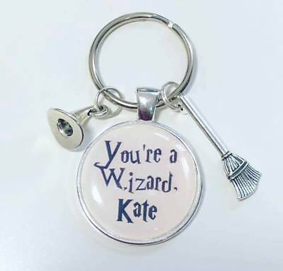 £5.95 • Buy Personalised Custom HARRY POTTER Keyring You're A Wizard Gift  Christmas