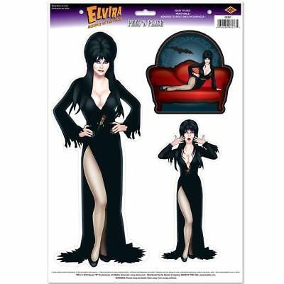 $ CDN4.83 • Buy Elvira Queen Of Halloween Peel 'N Place 12  X 17  Halloween Decorations