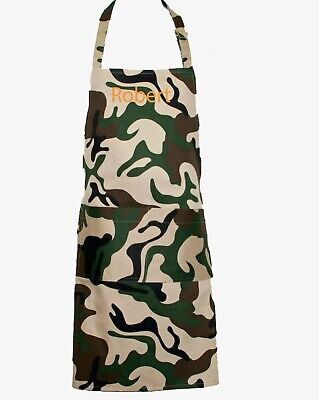 $39.99 • Buy Camo Apron, Camouflage Chef For Man, Full Bib, Personalize With Name, AGIFT 1377