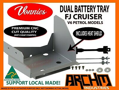 AU75.60 • Buy VONNIES DUAL BATTERY TRAY SYSTEM For TOYOTA FJ CRUISER AUS MADE CNC CUT