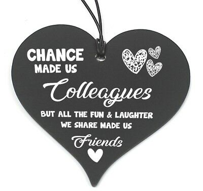 £3.99 • Buy #686 Chance Made Us Colleagues Heart Plaque Sign Friendship FRIEND Gift Thankyou