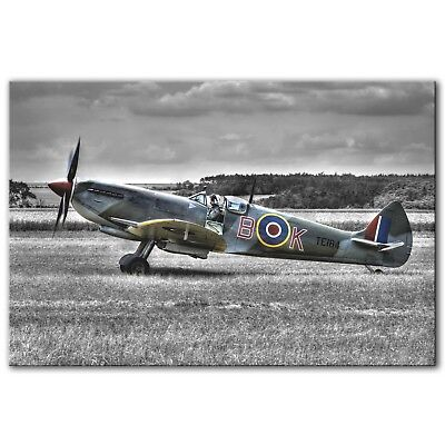 £69.97 • Buy SUPERMARINE SPITFIRE RAF WWII ~ Canvas Print Wall Art Picture Photo ~ 5 Sizes