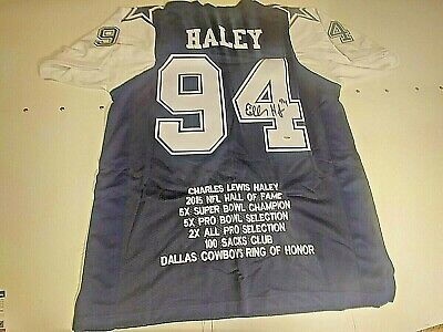 $ CDN234 • Buy Charles Haley Signed Dallas Cowboy Stat Jersey Psa/dna Certified