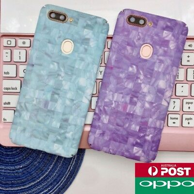 AU8.99 • Buy OPPO R15 A57 A73 Colourful Marble Pattern Wave Check Hard Fashion Case Cover